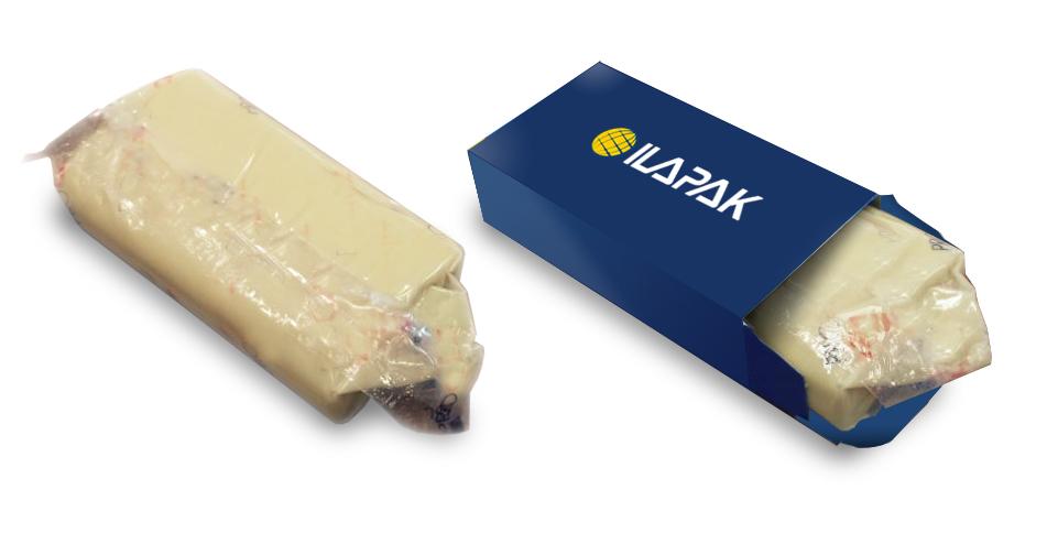 hot stuff block bottom bags for soft cheese  ilapak