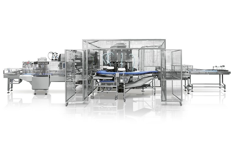 Ima Ilapak Delta VacMap horizontal flow wrap form fill and seal flow wrapper packaging machine with carousel extending shelf life